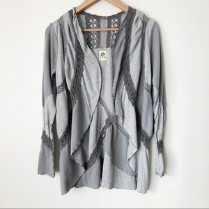 Tiny Anthropologie Patchwork Waterfall Cardigan